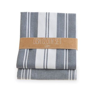 Gray Blue Dish Cloth Set