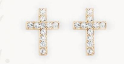 Spartina Have Faith Cross Stud Earrings
