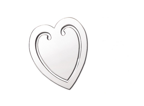 Silver Heart Shaped Bookmark