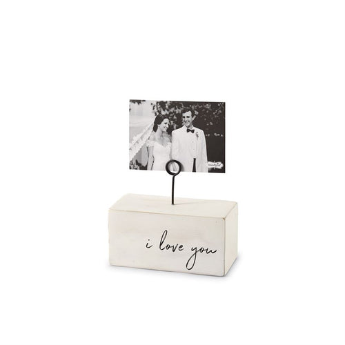 I Love You Wood Block Picture Frame