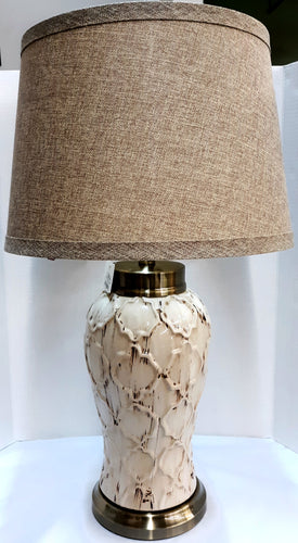 Ceramic Cream Distressed Lamp