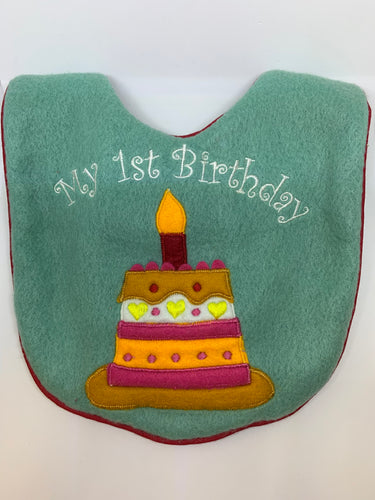 My First Birthday Bib