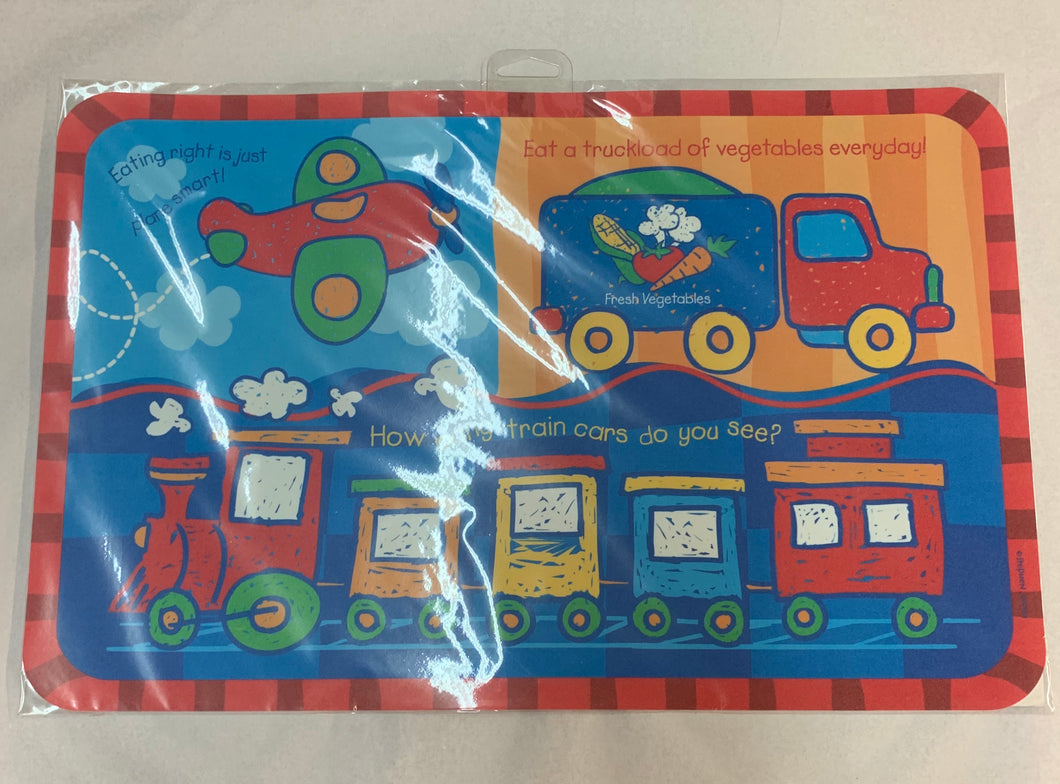 Trucks Trains and Planes Placemat