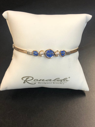 Birds of a Feather Clear or Sapphire Ronaldo Bracelet