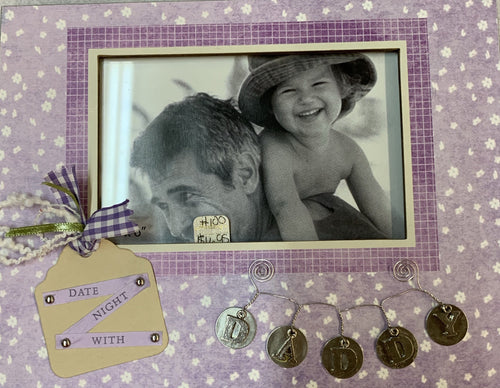 Date Night with Daddy Picture Frame