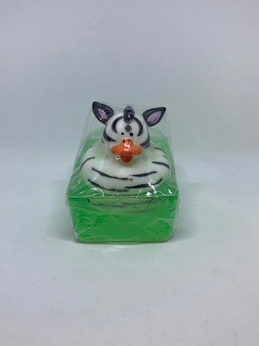 Zebra Rubber Duck Soap
