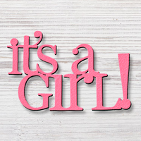 Small Word Magnet It's a Girl
