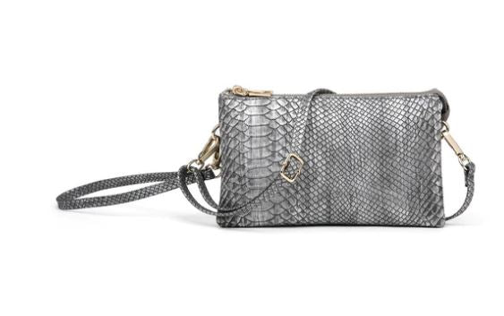 Riley Snake Compartment Wristlet/Crossbody