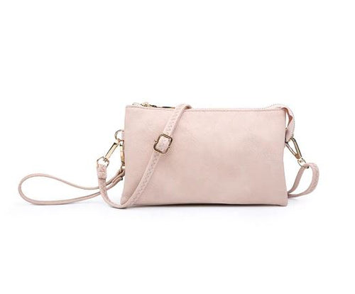 Riley Crossbody/Wristlet in Light Pink