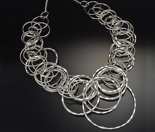 Large Silver Plated Necklace