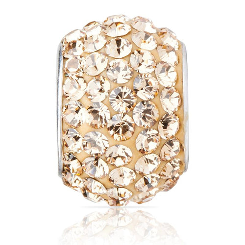 Sparkle Bead Light Golden Topaz Charm