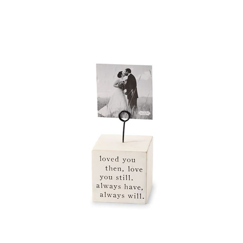 Love You Always Wood Block Picture Frame