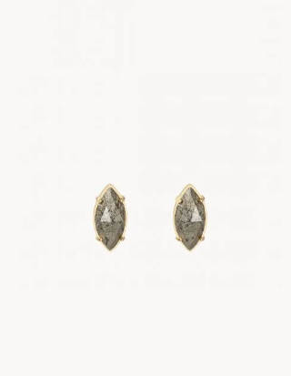 Pyrite Marquise Stud Earrings