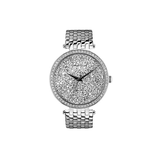 Women's Quartz Watch with Stainless-Steel Strap, Silver (Model: 43L206)