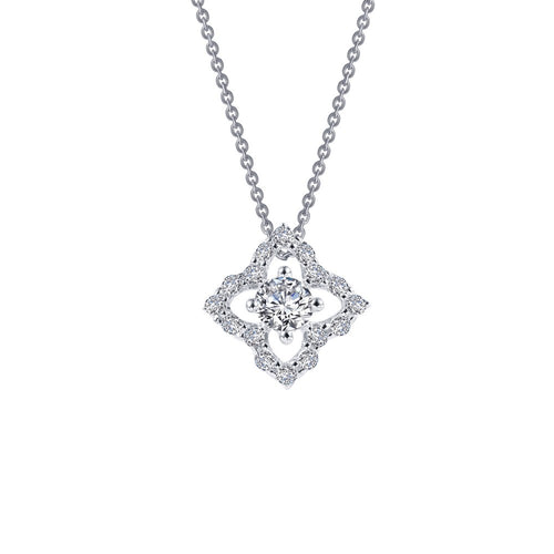 0.49 ct tw Flower Necklace