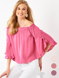 Off Shoulder Top, 3 Asst.