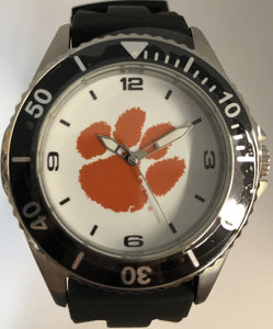 Orange Clemson Paw Black Watch Large