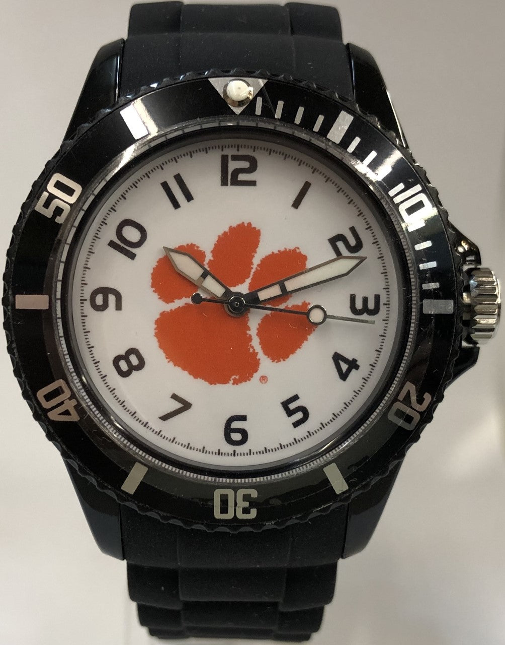Orange Clemson Paw Black Watch Small