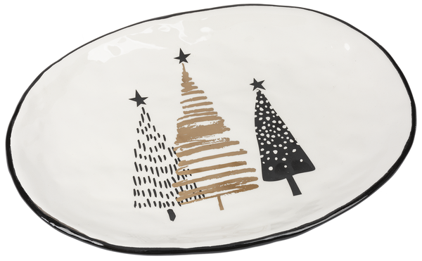 Large Oval Christmas Platter