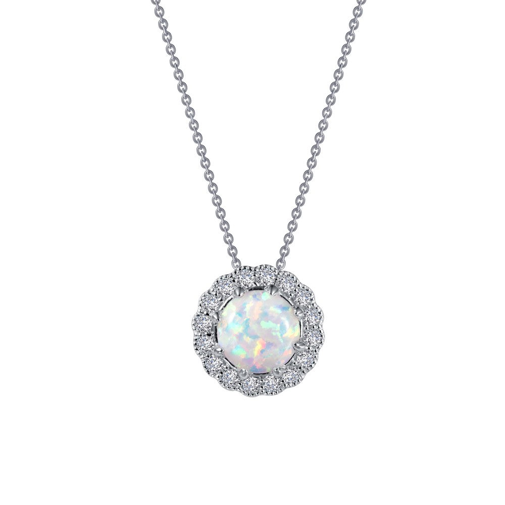 Classic Halo Pendant Necklace
