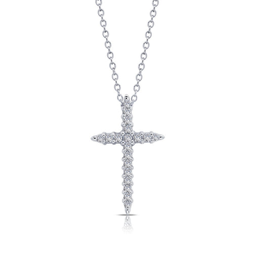 0.37 ct tw Cross Pendant Necklace