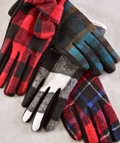 Plaid Gloves, 4 Asst