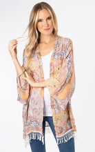 Load image into Gallery viewer, Printed Fringe Tassel Kimono, 2 Asst.