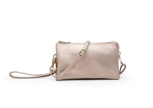 Riley Crossbody/Wristlet in Rose Gold