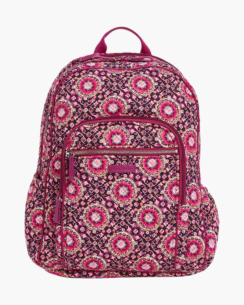 Raspberry Medallion Iconic Campus Backpack