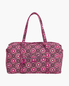 Raspberry Medallion Iconic Large Travel Duffel