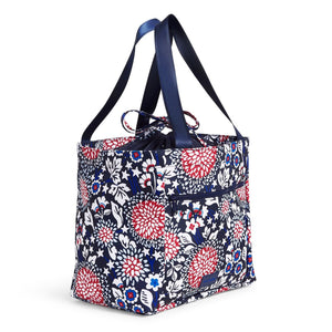 Red White & Blossoms ReActive Drawstring Family Tote