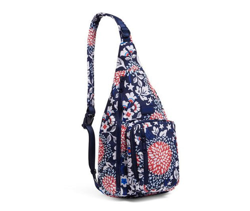 Red, White & Blossoms ReActive Sling Backpack