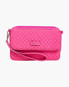 Iconic RFID All in One Crossbody in Rose Petal