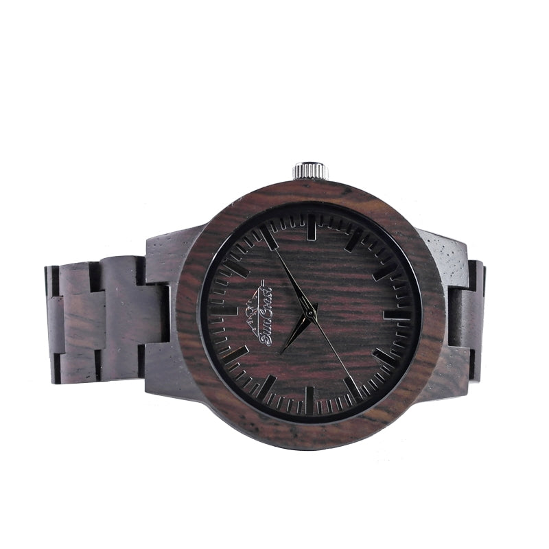 Ebony Sandalwood Watch Featuring Japanese Movement