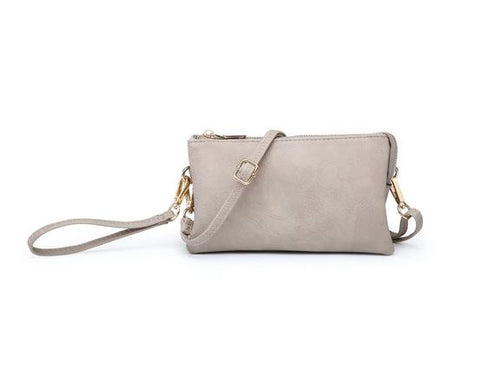 Riley Crossbody/Wristlet in Sand