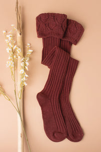 Needle Point Tall Socks -  Asst Colors