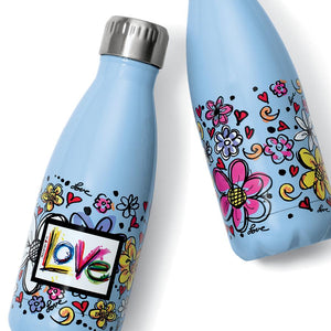Scribble Garden Water Bottle
