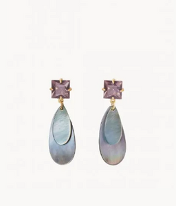 Shell Point Drop Earrings