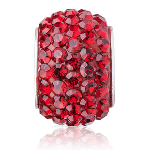 Sparkle Bead Siam Red Charm