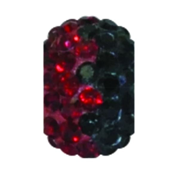 Sparkle Bead Siam Red/Black Charm
