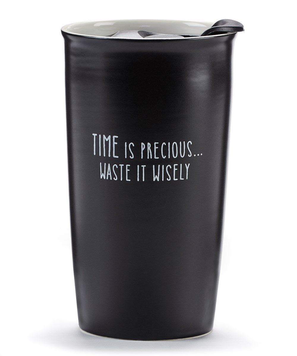 Time is Precious Ceramic Travel Mug