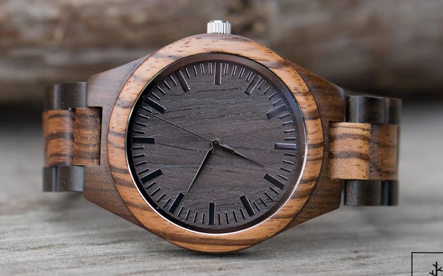 Men's Zebra and Sandalwood Watch