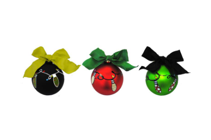 Frosted Bulb Ornaments - Asst. Colors