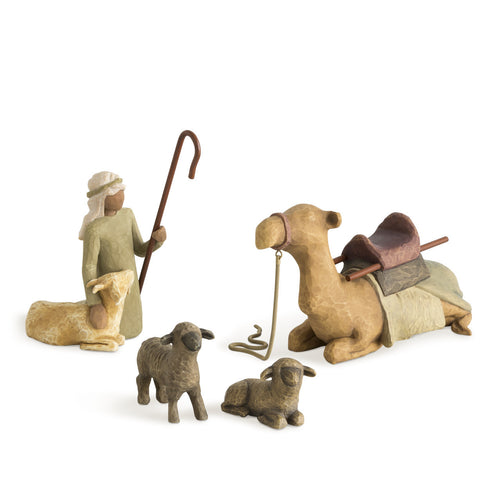 Willow Tree Shepard and Stable Animals
