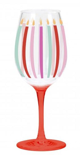 Acrylic Birthday Wine Glasses, 6 Asst.