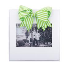 Stripe Ribbon Bow Frame, 7 Asst.