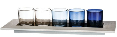 Five Votive Tray Candle Holder