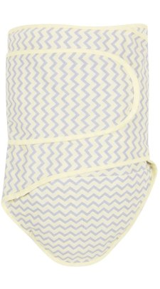 Swaddle in Yellow Chevron
