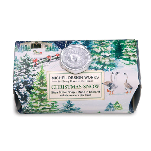 Christmas Snow Large Bath Soap Bar