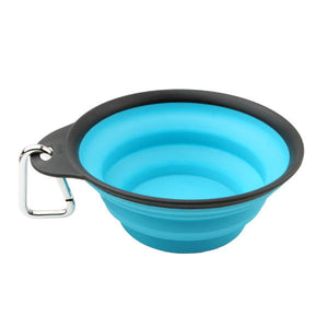 Collapsible Silicone Dog Bowl, 4 Asst.